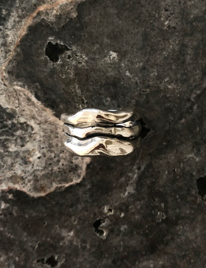 Bold Wave Ring